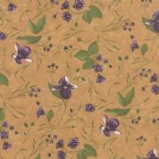 Moda Lady Slipper Lodge by Holly Taylor - 4015 - Flowers on Buttercream - 6582 12 - Cotton Fabric